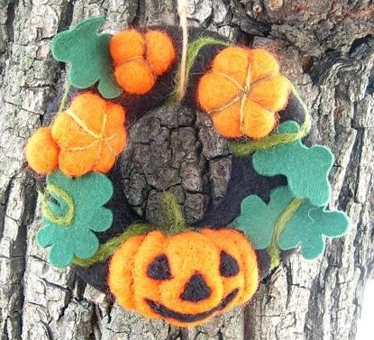 Halloween Wreath Pumpkin - Tulip Felting Kit
