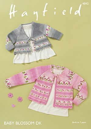 Hayfield Baby Blossom DK Cardigans Knitting Pattern 4842