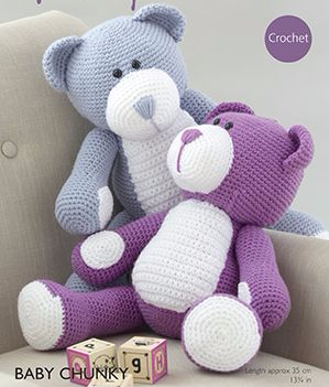 Hayfield Bears Crochet Kit Purple