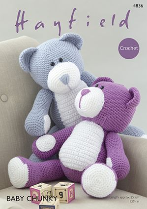 Hayfield Bears Crochet Pattern 4836