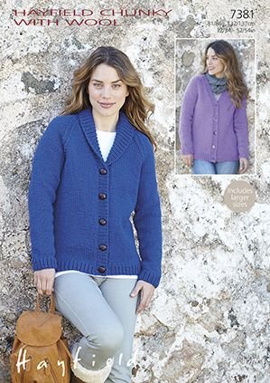 Hayfield Chunky Cardigans Knitting Pattern 7381