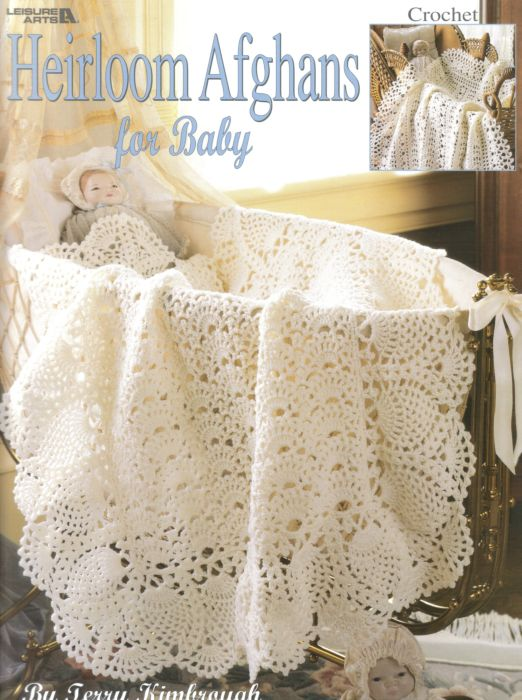 Heirloom afghans for baby crochet pattern book dt1010fo