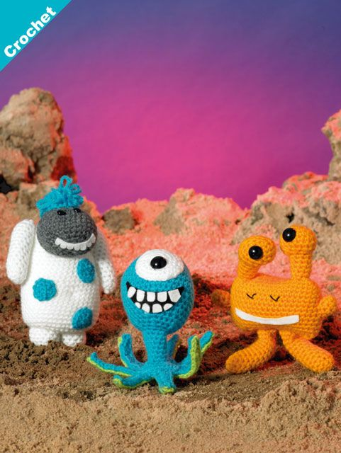James C Brett DK Magic Monsters 2 Crochet Pattern JB411