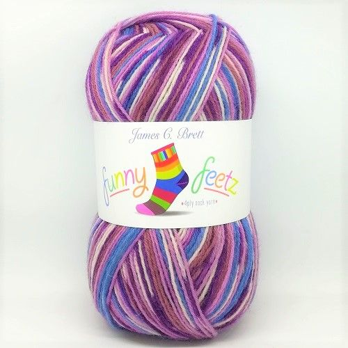James C Brett Funny Feetz 4ply Sock Yarn