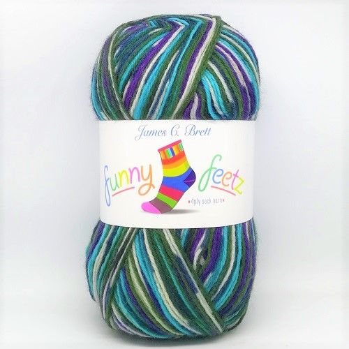 James C Brett Funny Feetz 4ply Yarn FZ06