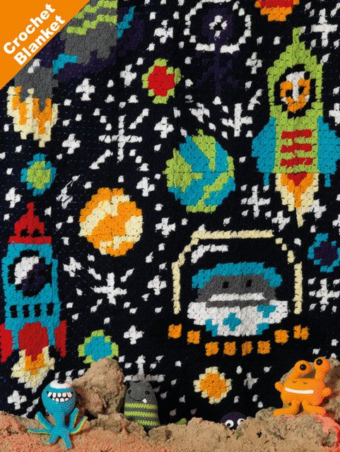 James C Brett Space Blanket Crochet KIT