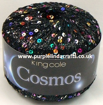 King Cole COSMOS Glitter Sequin Yarn 1097 Lunar