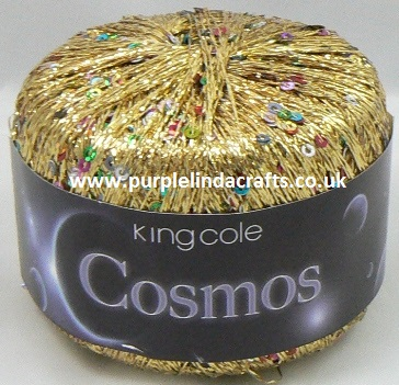 King Cole COSMOS Glitter Sequin Yarn 1099 Stardust
