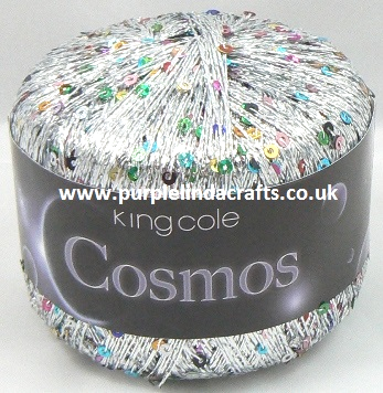 King Cole COSMOS Glitter Sequin Yarn 1100 Starburst