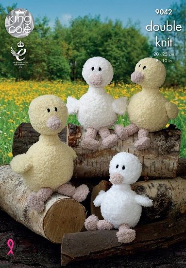 King Cole Cuddles DK DUCKS Toy Knitting Pattern 9042