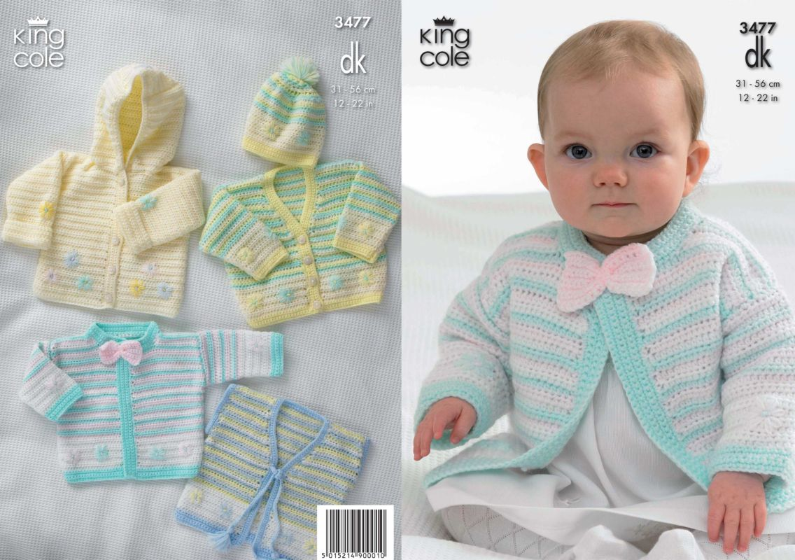 King cole dk baby hooded jacket cardigans waistcoat hat crochet king cole dk baby hooded jacket cardigans waistcoat hat crochet pattern 3477 bankloansurffo Image collections