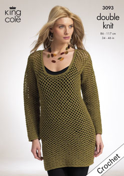 King Cole DK Cardigan & Sweater Crochet Pattern 3093