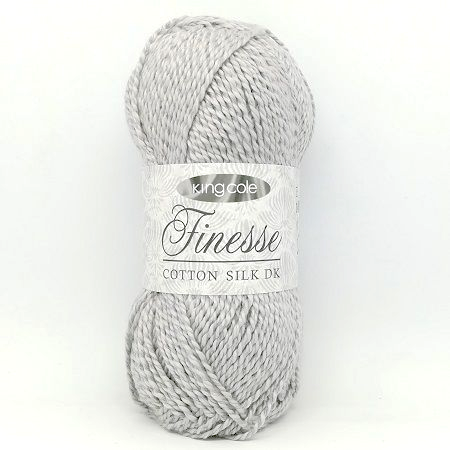 King Cole Finesse Cotton Silk DK 2819 Silver