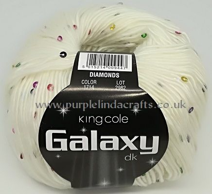 King Cole Galaxy DK Sequin Yarn 1714 Diamonds