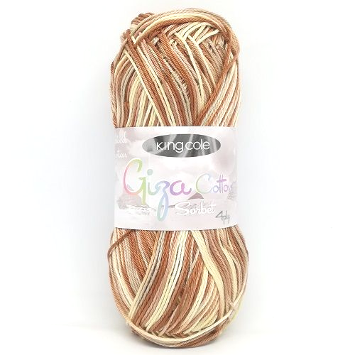 King Cole Giza Cotton Sorbet 4ply 2428 Toffee