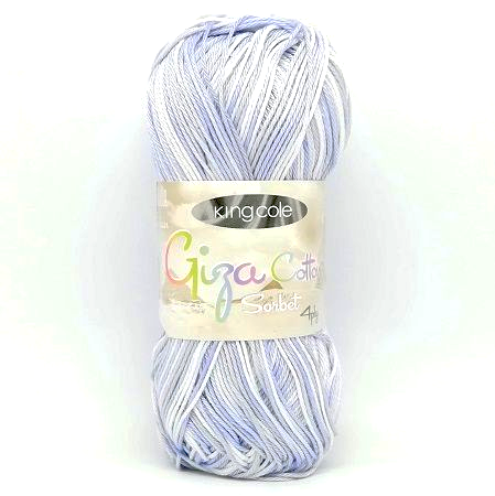 King Cole Giza Cotton Sorbet 4ply 2478 Silver Blue