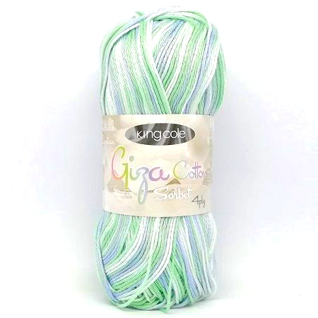 King Cole Giza Cotton Sorbet 4ply 2479 Peppermint