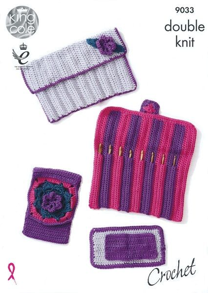 King Cole Hook Roll Accessories Set Crochet Pattern 9033