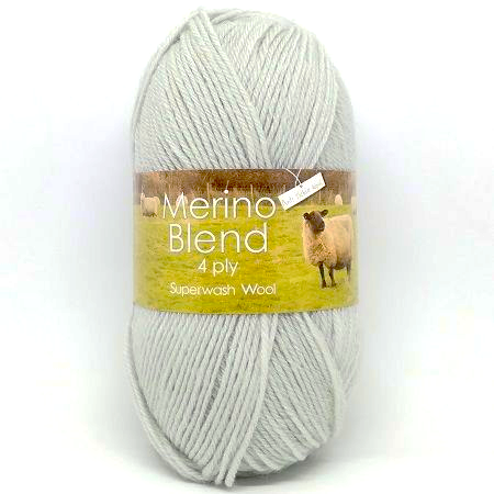 King Cole Merino 4ply Wool 3292 Pale Grey
