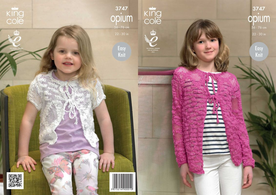 King cole opium knitting patterns king cole opium girls cardigan knitting pattern 3747 bankloansurffo Gallery