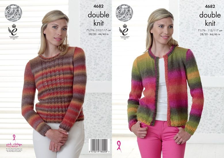 King Cole Riot DK Sweater and Jacket Knitting Pattern 4682
