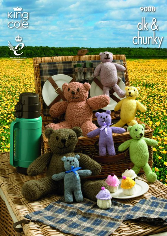 King Cole Teddy Bears Picnic Knitting Pattern 9008