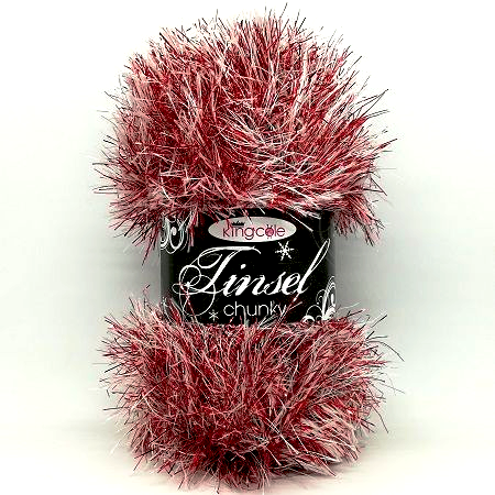 King Cole TINSEL 3303 Red Snow