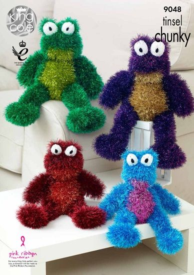 King Cole Tinsel FROG Knitting Pattern 9048