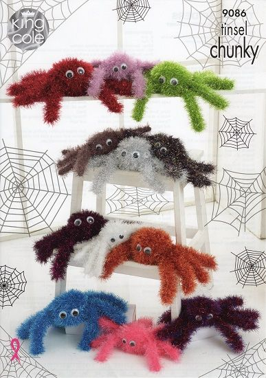 King Cole Tinsel Spiders Knitting Pattern 9086