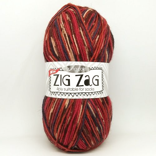 King Cole ZIG ZAG 4ply 3159 Holly Berry