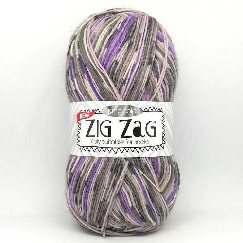 King Cole ZIG ZAG 4ply 3160 Plum Wine