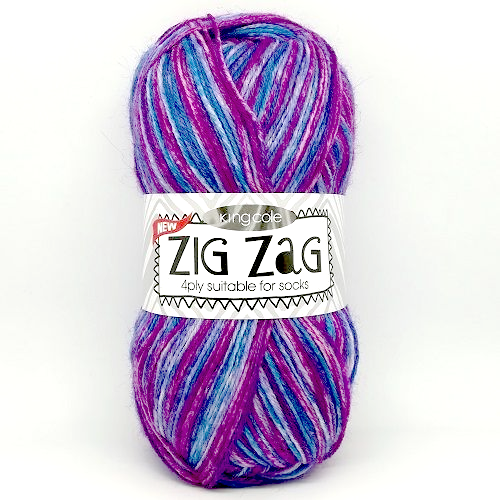 King Cole ZIG ZAG 4ply 3166 Chinese Violet