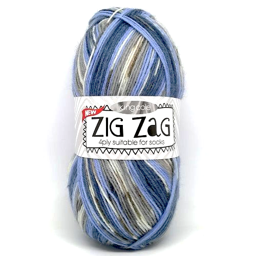 King Cole ZIG ZAG 4ply 3232 Adriatic