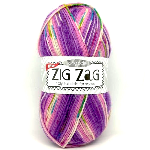 King Cole ZIG ZAG 4ply 3235 Purples
