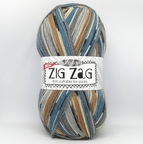 King Cole ZIG ZAG 4ply 3237 Oak