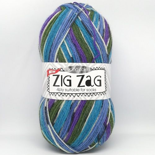 King Cole ZIG ZAG 4ply 3240 Bluejay