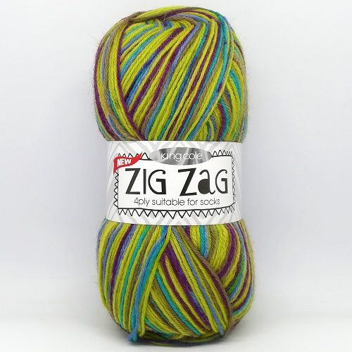 King Cole ZIG ZAG 4ply 3251 Lime