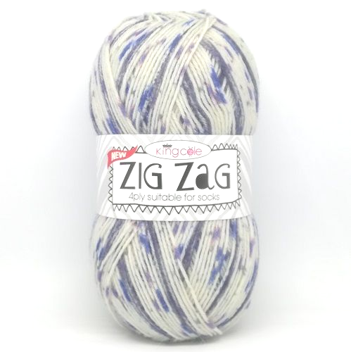 King Cole ZIG ZAG 4ply 3410 Wedgewood
