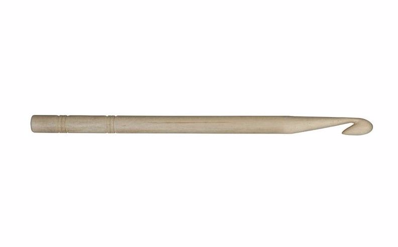 KnitPro Basix Birch Wood Crochet Hook 6.5mm