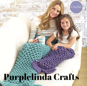 Mermaid Tail Blanket Crochet Kit PINE