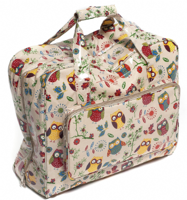 OWL PVC Sewing Machine Bag - Knitting Craft Storage