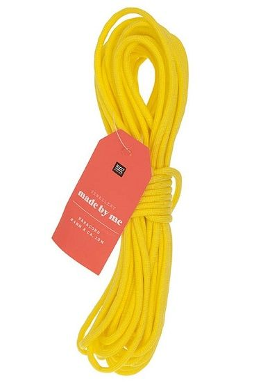Paracord 4mm x 10m Yellow