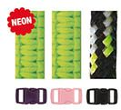 Paracord Bracelet Set Neon Green Black 2mm