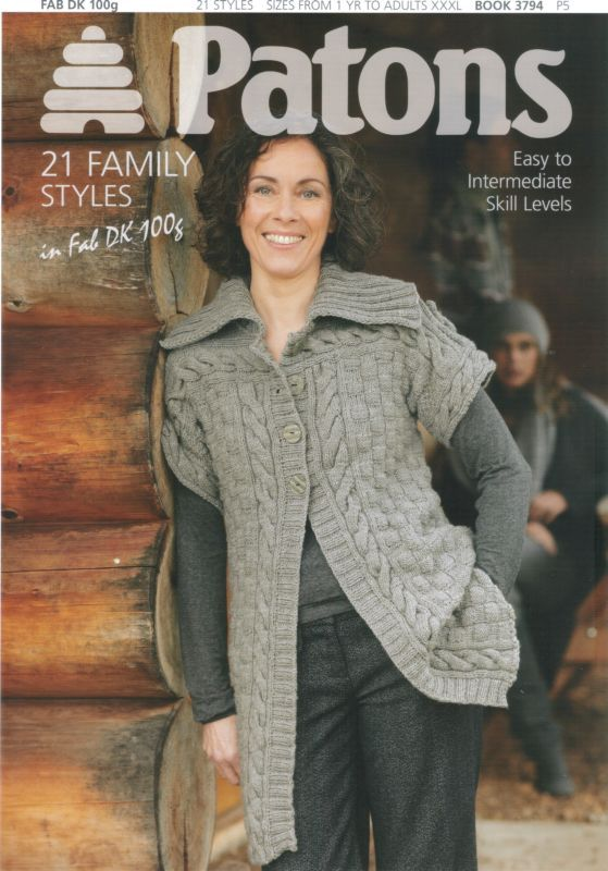 Patons 21 Family Styles In Fab Dk Knitting Pattern Book 3794