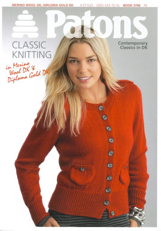 Patons Contemporary Classics Dk Knitting Pattern Book 3746