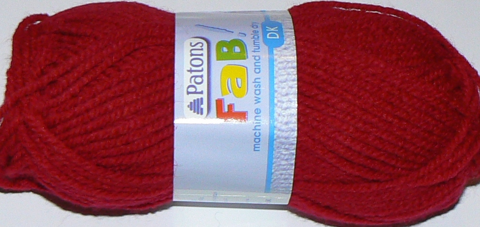 Patons FAB DK 25g CHERRY Red 2322 REDUCED