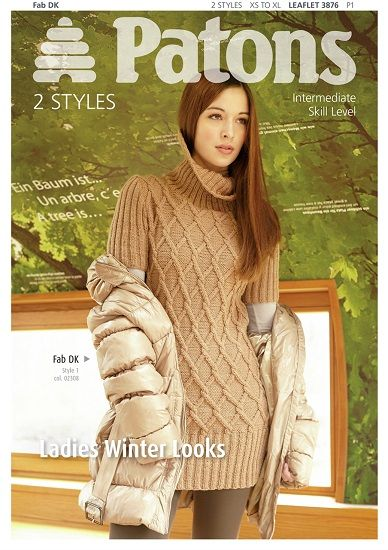 Patons Fab DK Ladies Winter Looks Knitting Pattern 3876 Only £1