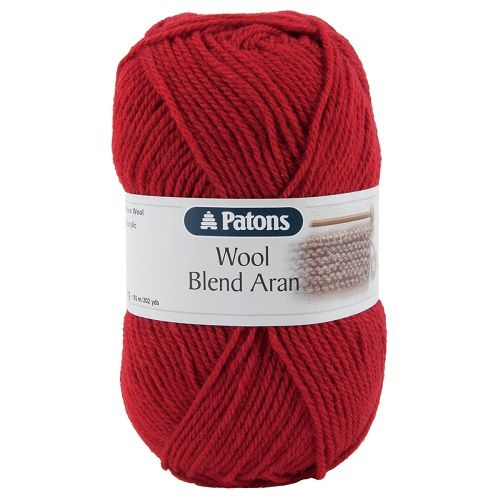 Patons Wool Blend Aran 131 CHERRY Red