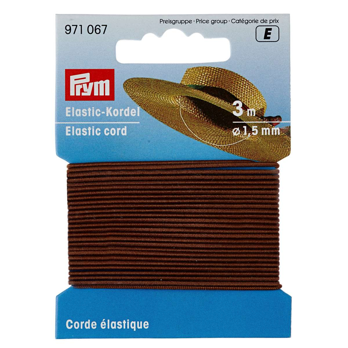 Prym ELASTIC CORD 3m x 1.5mm BROWN