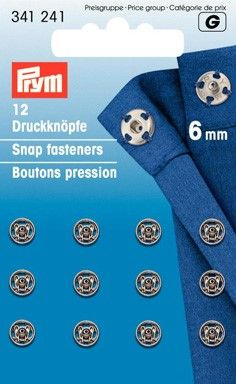 Prym Sew on Snap Fastners 6mm